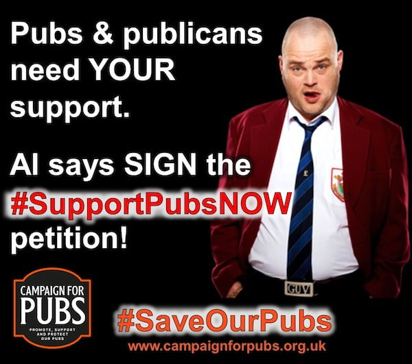 Al Murray 'The Pub Landlord' says #SupportPubsNOW to help pubs & publicans survive the winter